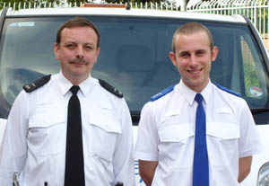 Belper Police - PC Barry Bacon and PCSO Steven Slater