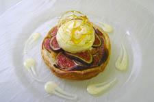 fig tart served with honey ice-cream recipe
